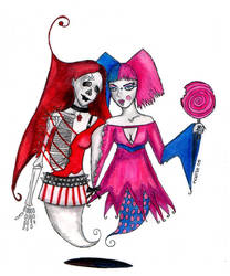 Skely and Candy by uvita