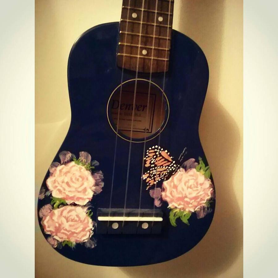 Custom painted ukulele by KristenScottArt on DeviantArt Ukulele Paint Designs