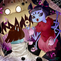 Tea party with spiders by trollera