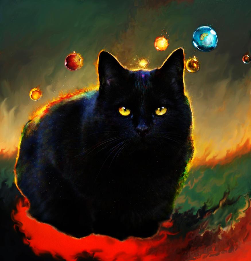 black cat by Ururuty
