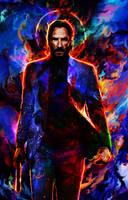 John Wick(Keanu Reeves) by Ururuty