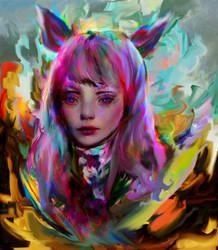 Ahri by Ururuty