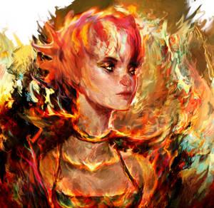 autumn girl by Ururuty