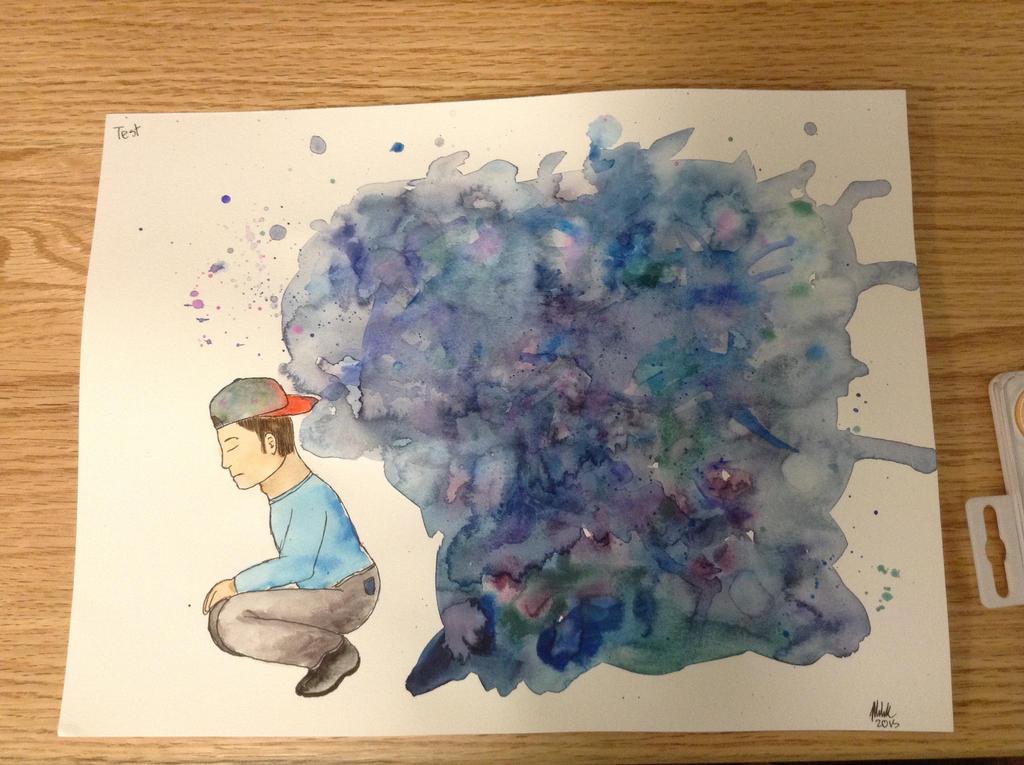 Sad Thoughts by RainbowCloudArt