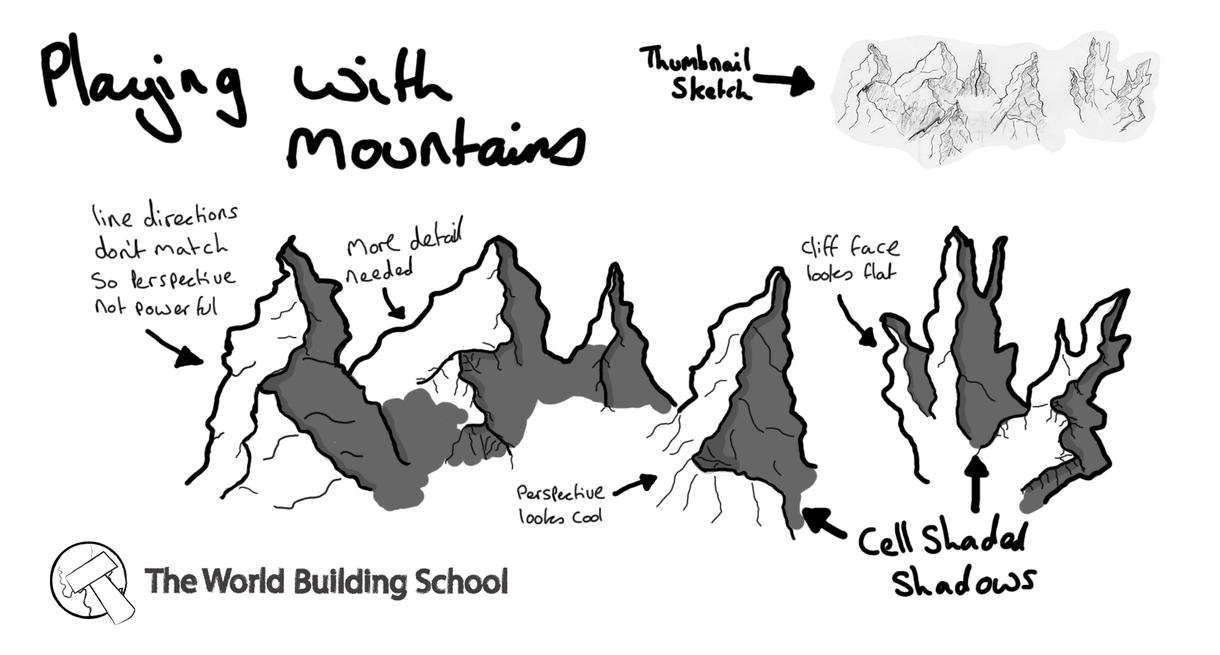 how to draw a mountain top