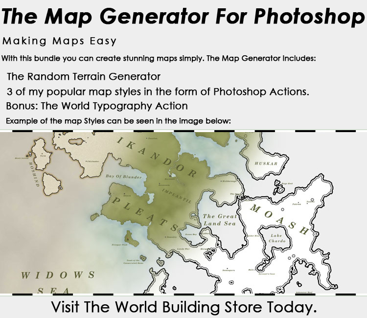 The Map Generator For Photoshop by WorldBuilding