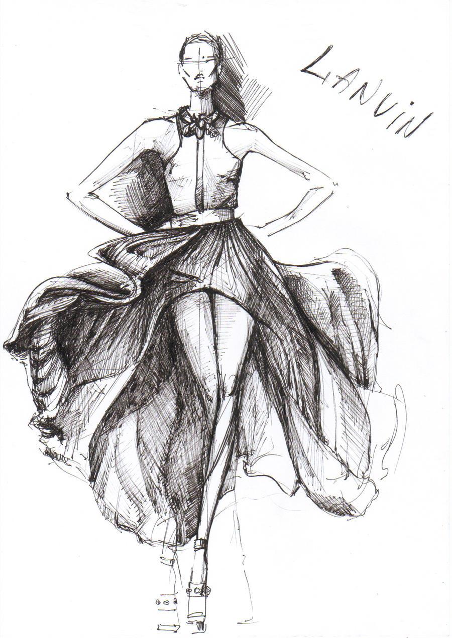 LANVIN SS2011 sketch by neexa on DeviantArt