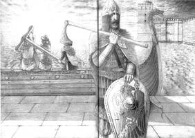 Vikings in Constantinople by Apollonides