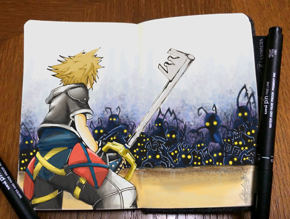 Sora's Endeavor of a Swarm of Shadows by ilikeMADIian