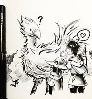 Day 5: A Wild Encounter - Inktober 2017 by Jhincx-Faust