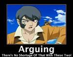 Arguing...