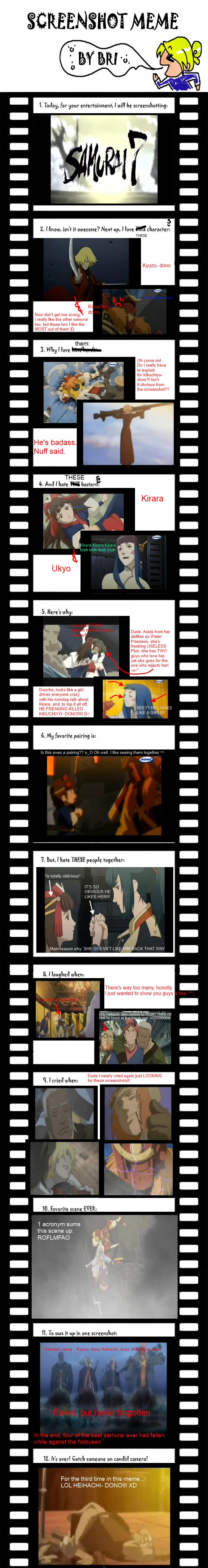 Samurai 7 Screenshot Meme 8D by BlackHeartGoddess