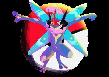 Pokemon Greninja Ash by HanaJoka
