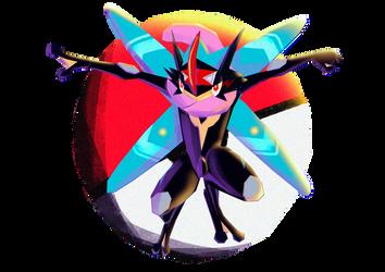 Pokemon Greninja Ash Shiny by HanaJoka