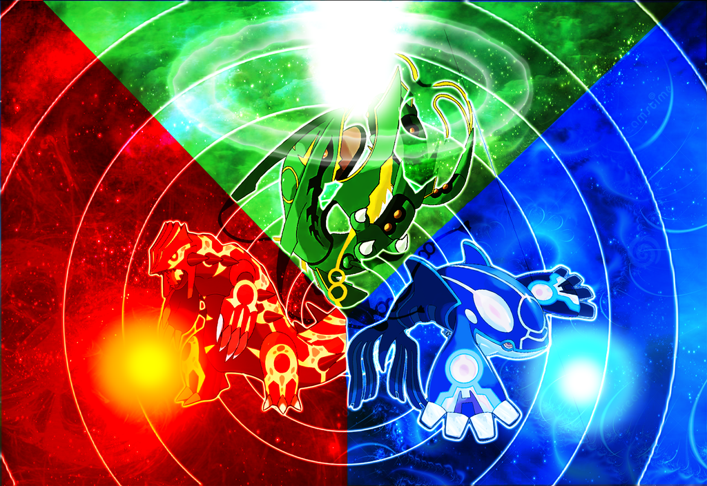 Rayquaza Groudon Kyogre By MW007