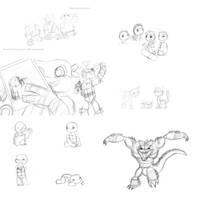 TMNT Sketch Dump by ninjagriff