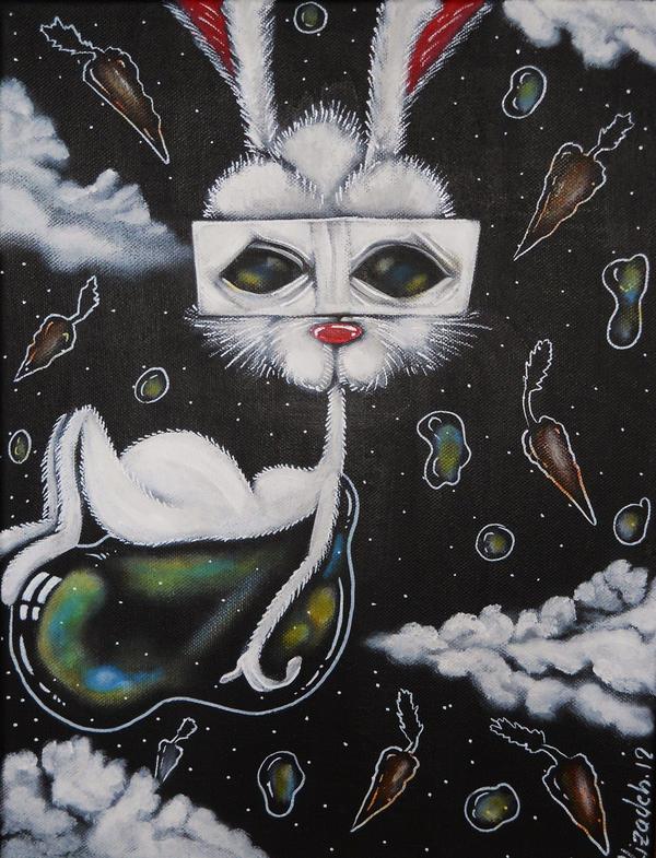 Rabbits Are Roadkill by Alizadeh-Art