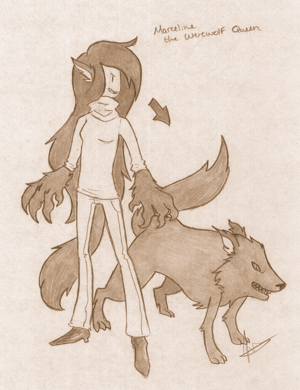 Marceline The Werewolf Queen By CuriousInferno