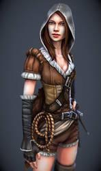 Good vs Evil (vigilante thief girl) by tsabszy
