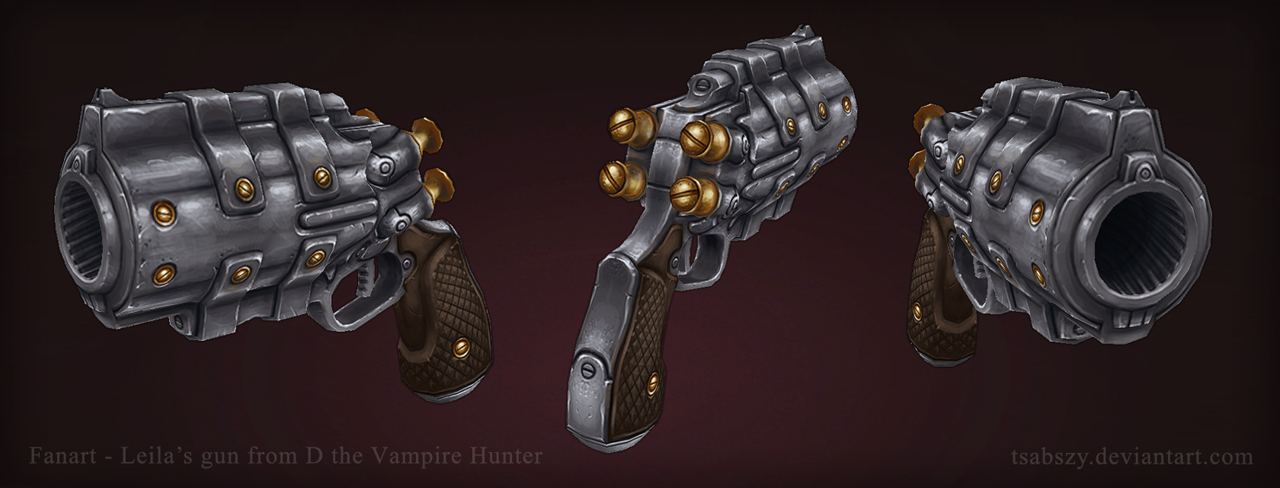 D the Vampire Hunter Fanart - Leila's Gun by tsabszy