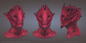 Alien1 Portrait based on Max Davenport's concept by tsabszy