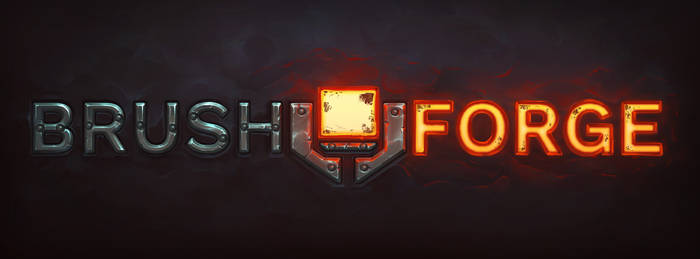'Brush Forge' logo fun paint over