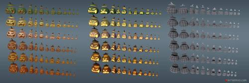 Halloween Pumpkin Set by tsabszy