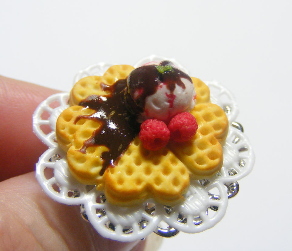 waffle with ice cream ring from NeatEats by rhonda4066 on DeviantArt