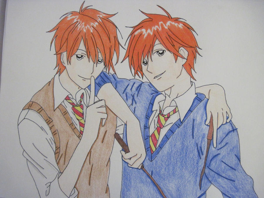 Fred and George Weasley by CaptainHanabusaFred And George Weasley Anime