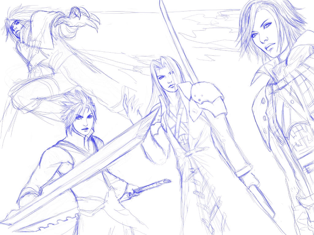 FFVII sketch for Sooj by mr-mister