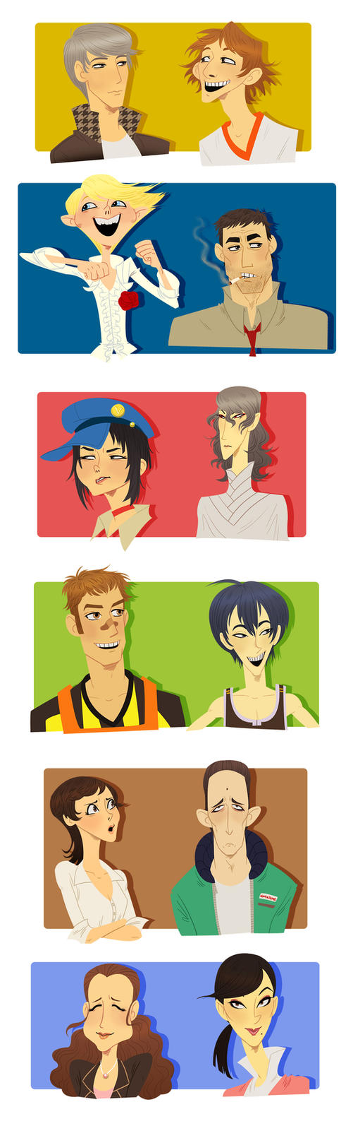 More Persona 4 Faces by french-teapot