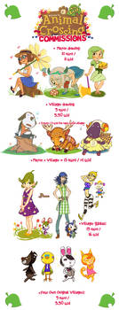 Animal Crossing New Leaf Commissions by french-teapot