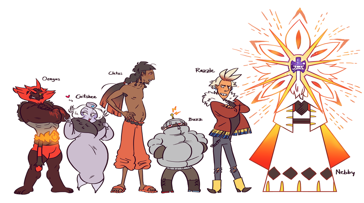 Pokemon Sun Team *spoilers Kinda* By French-teapot On