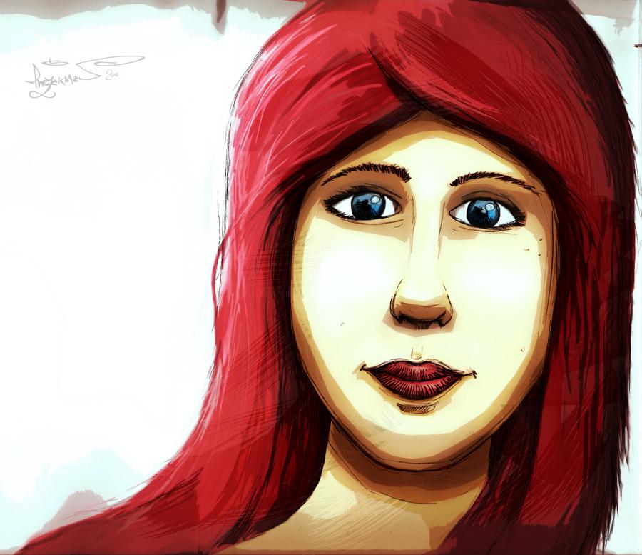 Girl face by TheZakMan