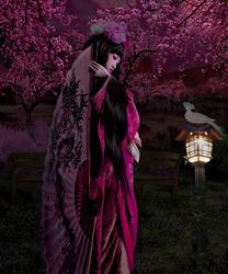 Kimono Pose Spring Colors by IZSTEVE