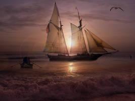 Anchored going Ashore by IZSTEVE