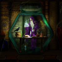 Wizard in a Bottle by IZSTEVE