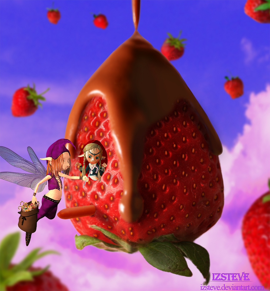 Floating Strawberry Land by IZSTEVE