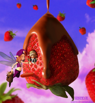 Floating Strawberry Land by IZSTEVE