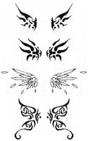 Wing tattoos by bluecatgreenapl