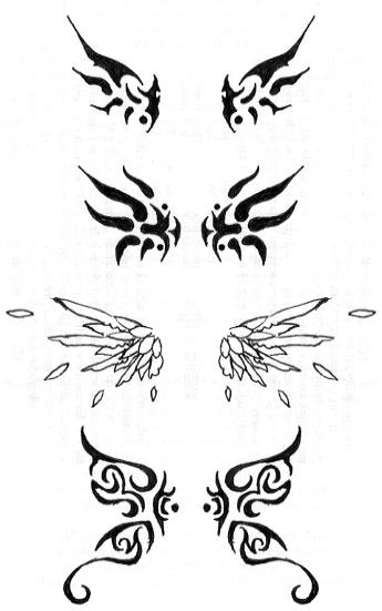 Labels: butterfly wings back neck tattoo or butterfly wings lower back