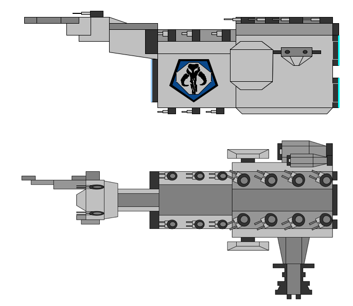 Mandalorian Command Cruiser by JediArtisan