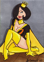 Dr Mrs The Monarch sketchcard by dsoloud