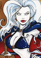 Lady Death sketchcard by dsoloud