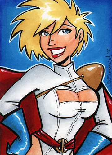 Powergirl sketchcard by dsoloud