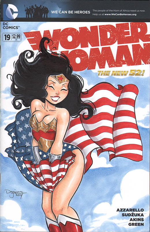 Wonder Woman Sketchcover by dsoloud