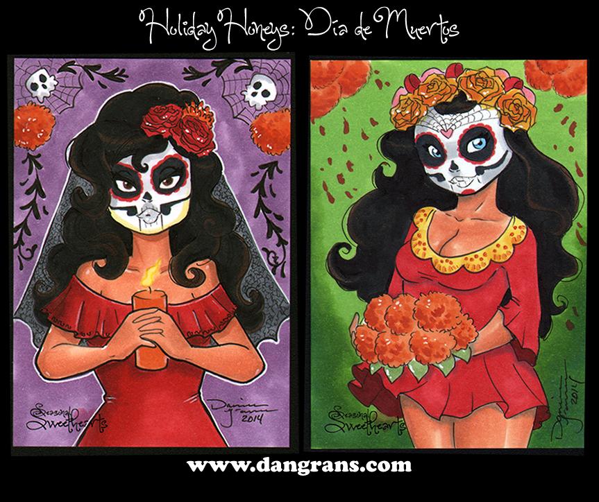 Holiday Honeys: Dia de Muertos by dsoloud