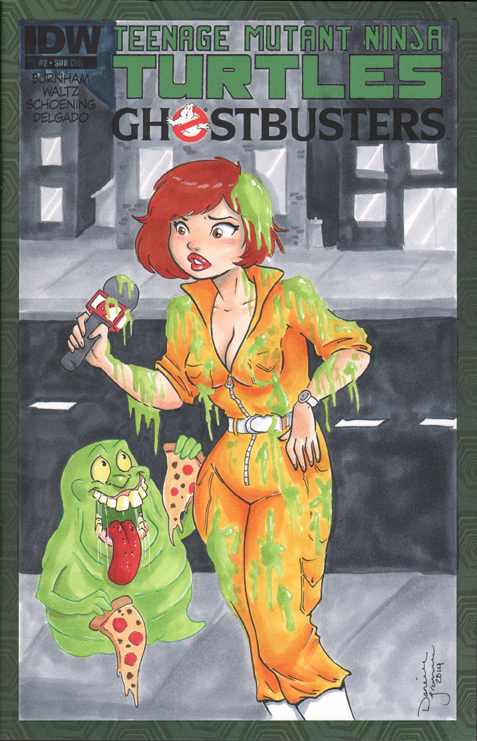 April and Slimer by dsoloud
