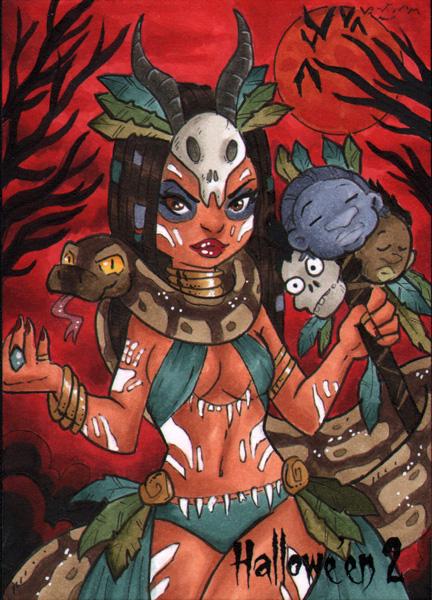 Voodoo Priestess by dsoloud