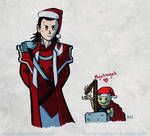 Loki and Thorkitty XMAS ver by Asaph